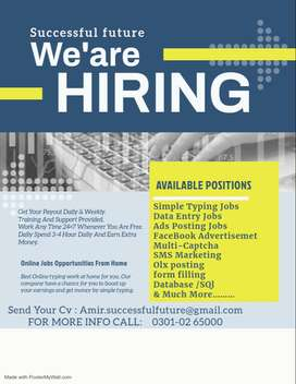 best job opportunity for male & female – simple typing job