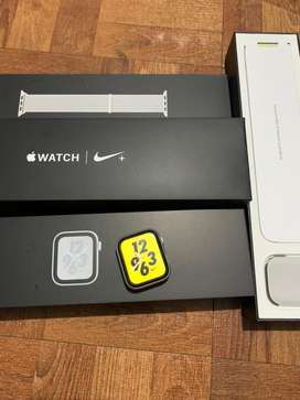 apple watch iwatch series 4 44mm nike edition silver