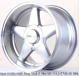Velg Mobil Lampung VEST H1050 HSR R16X8-9 H8X100-114,3 ET35-25 SML