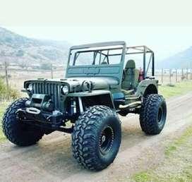 Open modified stylish jeep