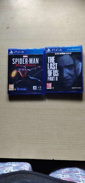 Spiderman Miles Morales, Last of us 2, PS4 game