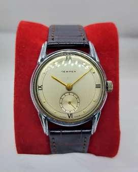 Jam Tangan Tempex Sub Second Manual Winding Swiss Vintage Lug Menawan
