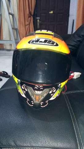 Helm NJS fullface double visor