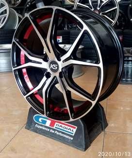 Velg mobil racing Ring 17-7.5 h4-100 et40 bisa untuk Yaris Vios city