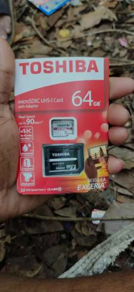 Toshiba unused memory card with sd card