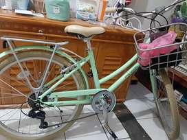 Sepeda warna hijau muda