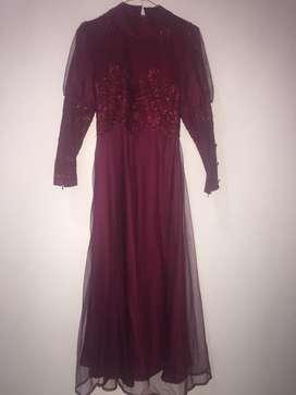 dress red murah