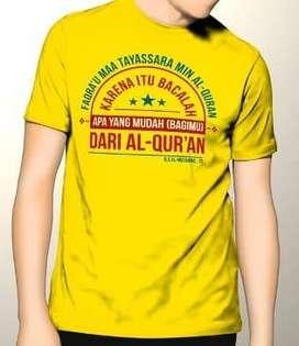 Kaos Premium DTG Dakwah Fashion Muslim Faqra U Maa Tayassara