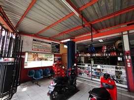 "Dijual murah RUKO/Usaha bengkel service motor ""Beserta isinya"""