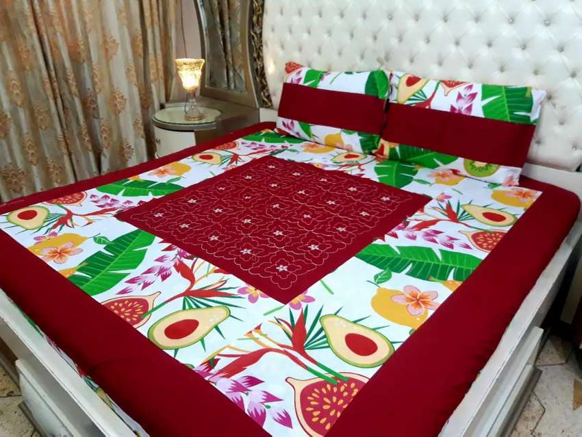 Patch work embroidery Bedsheets