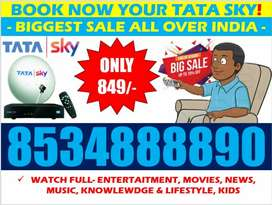 Tata sky all India Service free & Cash on delivery Airtel digital tv