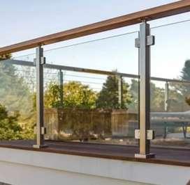 Kami bengkel las baroka nerimah pemasangan balkon stanlis kaca @4535