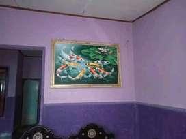 Lukisan ikan koi 9 kanvas oil asli buatan tangan.bali