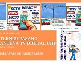 Teknisi Instalasi Pasang Baru Antena Tv Led Antenna Atas