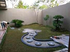 Pesona Taman dan kolam minimalis teras perumahan