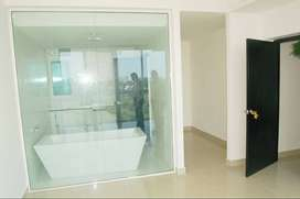 west facing flat with 2 bedrooms and washrooms along with amenities