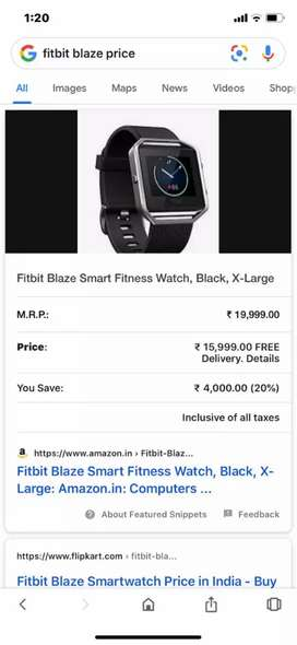 Fitbit watch just like new worth 19999 at 5999