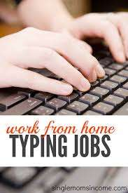 simple typing work from HOME