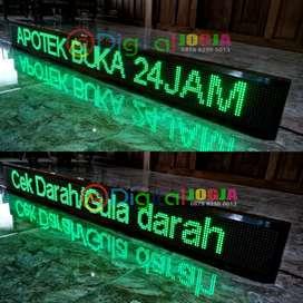 Lampu Running text promosi digital p10 DIP Garansi 1 Tahun