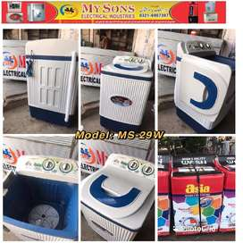 Pure White Plastic Washing Machine