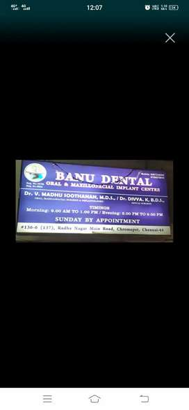 Wanted female dental receptionist cum assistant