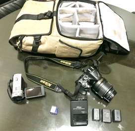 Nikon D5200 Mulus + Bonus (Tas Canon, Handycam FHD Sony, Memory, dll)
