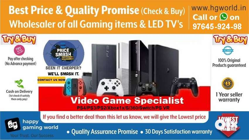 Unbeatable PS2,PS4,PS3,XBOX1/X/S/360,Switch,Vr All Gaming items&LED TV 0