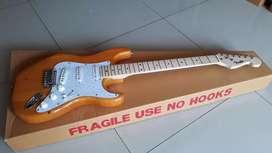 gitar fender stratocaster natural kuning yahut