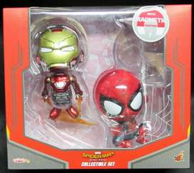 DIJUAL HOT TOYS COSBABY SPIDERMAN IRONMAN HOMECOMING MISB