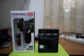 Dijual Rode VideoMic Go + Godox Video Light (ORI)