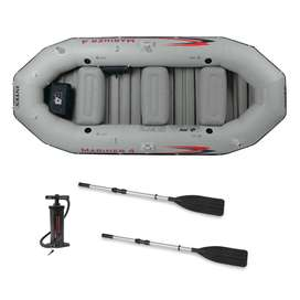 Intex Mariner 4 Inflatable Boat Set{most stable