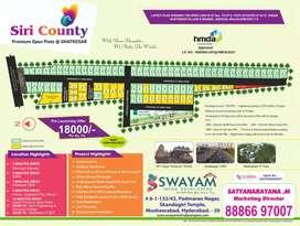 GHATKESAR NFC Nagar HMDA open Bank loans 75% . 100 feet Road available