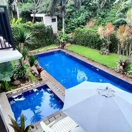 Di sewakan rumah villa harian private pool bandung dago