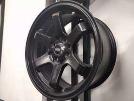 Velg mobil brio & agya Racing R1tx7 hsr tokyo Black