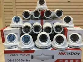 Paket lengkap 16 camera cctv Hikvision 2 Mp Gratis pasang terima beres