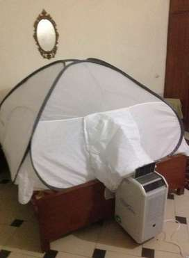 Bed tent for portable ac