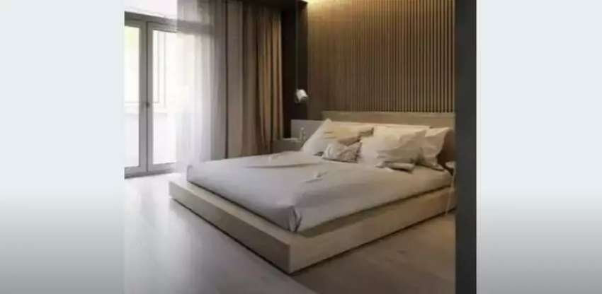 Crazy design bed with side tables 0