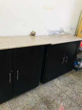 kitchen cabinets with marble top