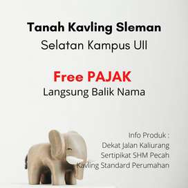 Free BPHTB dan BBN Tanah Dkt UII SHMP Sleman Kaliurang