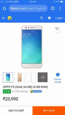 Oppo f3 with dual selfie