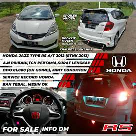 Dijual Honda Jazz Rs A/T 2012