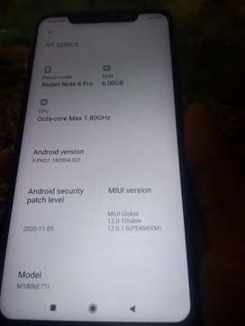 Redmi note 6pro charger ,bill available 1 saal Purana hai 6,64