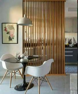 Sekat ruang kayu/kisi-kisi/tangga kayu/railling kayu/flooring kayu
