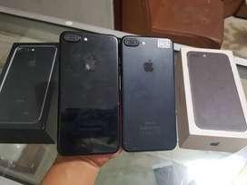 Iphone 7+ blackmate dan jet black 128gb Fulset Mulus BH 100% Nominus