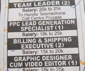 """Walk in interview IT Park""""Team Coordinator,Graphic/Photoshop Artists"""