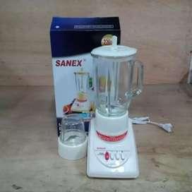 Blender merk 'Sanex' 3 in 1, tabung kaca-hygienis-2 blade