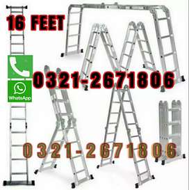 16 FT  ALMUNIUM LADDER   DIFFERENT SIZE FOLDABLE  AND  EASY  CARRY