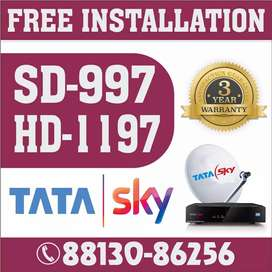 Tata sky setup box with installation