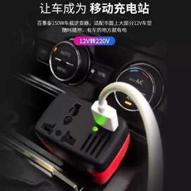 Car charger power inverter untuk colokan listrik sumber aki