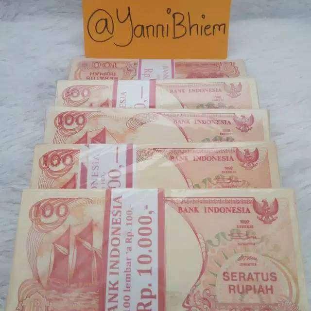 Uang Kuno Kertas Rp 100 Pinisi 1992 0